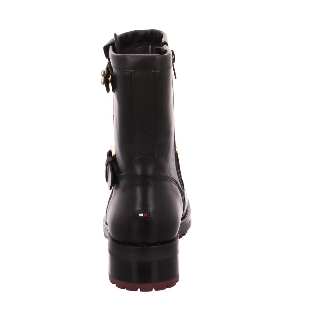 Tommy Hilfiger Jill 2a Damen Boot aus Glattleder in schwarz