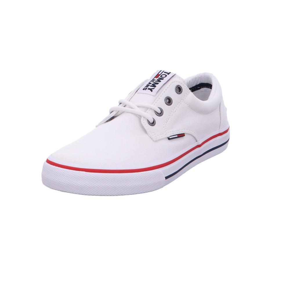 beliebte Geschäfte zuverlässige Leistung neueste Art von Details zu Tommy Hilfiger Herren EM0EM Weiße Leinen Sneaker