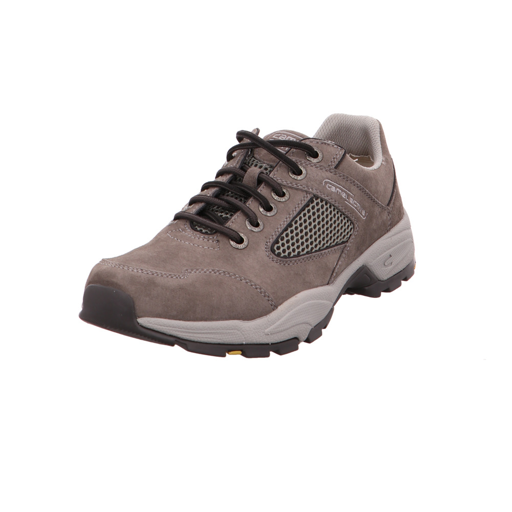 Camel active Herren Evolution 11 Graue Veloursleder Turnschuhe