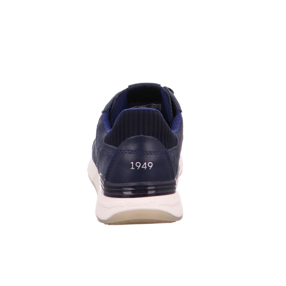 c815312ec96da8 Gant-Herren-Andrew-Blaue-Leder-Textil-Sneaker Indexbild 4