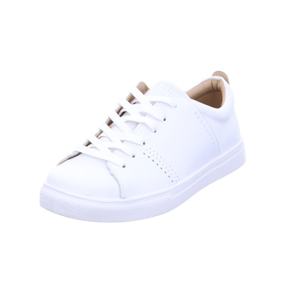 exclusive shoes brand new how to buy Skechers Damen Moda Solid Weiße Glattleder Sneaker | eBay