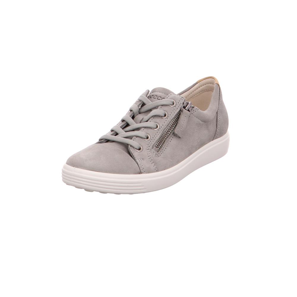 timeless design 05f3f ad482 Ecco Damen Soft 7 Graue Veloursleder Sneaker | eBay