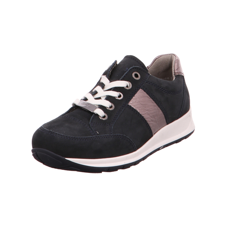 reputable site 8f06a 67f3c Ara Damen Osaka Blaue Veloursleder Sneaker | eBay