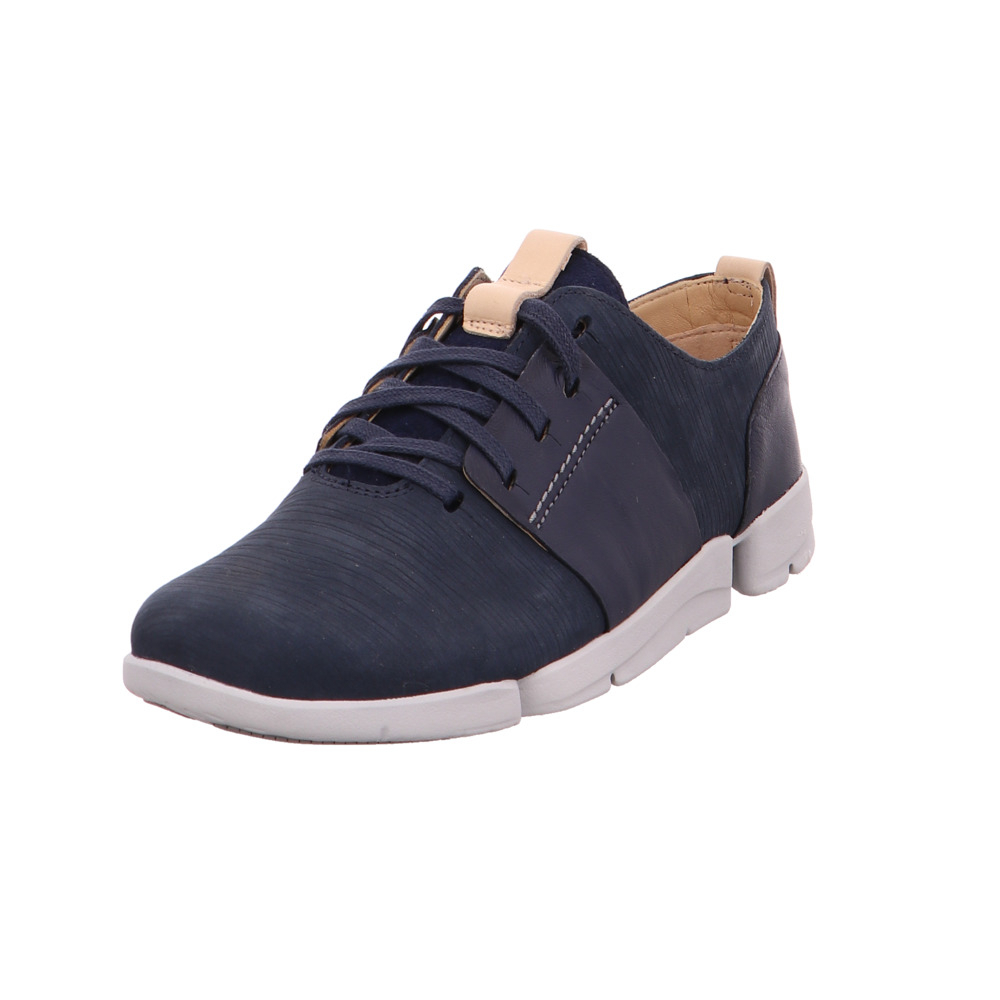Clarks Damen Tri Caitlin Blaue Leder Sneaker     Sneaker  ba397d