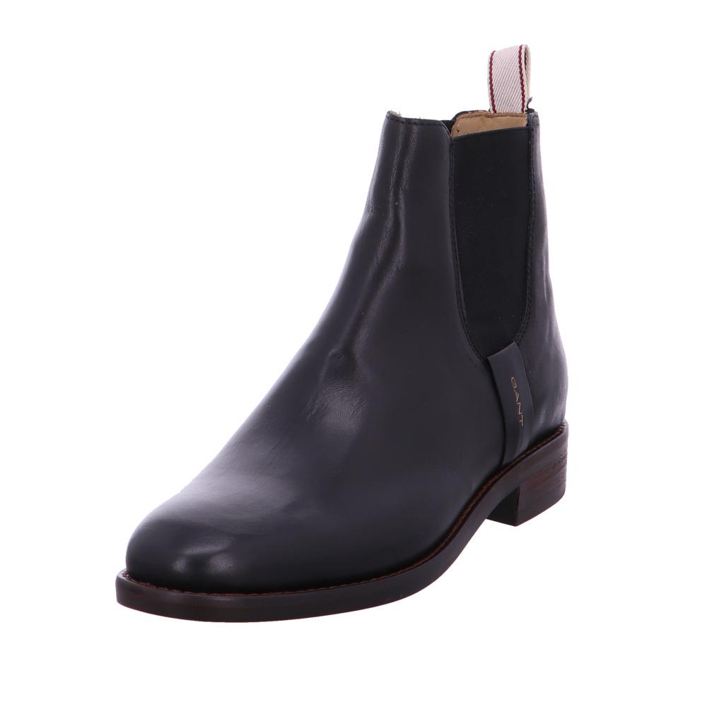 Gant Damen Fay 1b Schwarze Glattleder Chelsea Boots | eBay