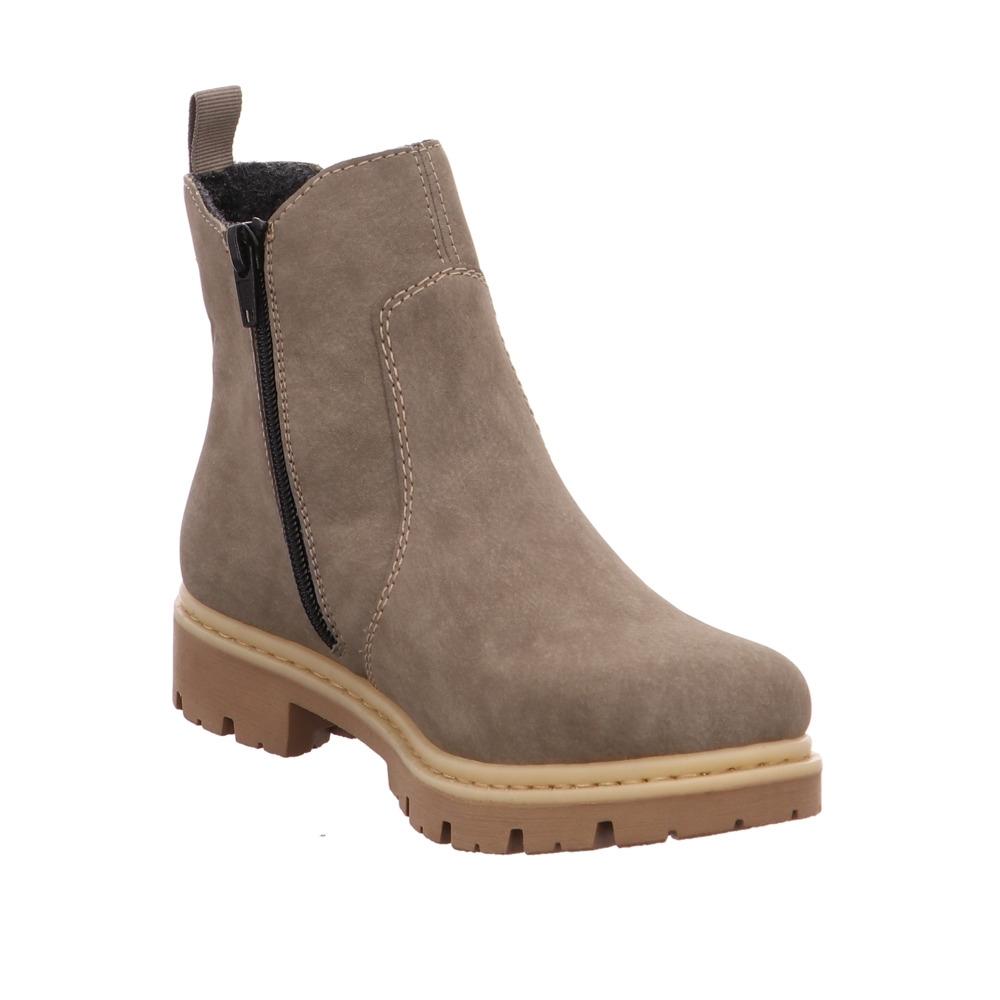 Rieker Damen 71361 Graue Lederimitat Boots | eBay Qt0O4