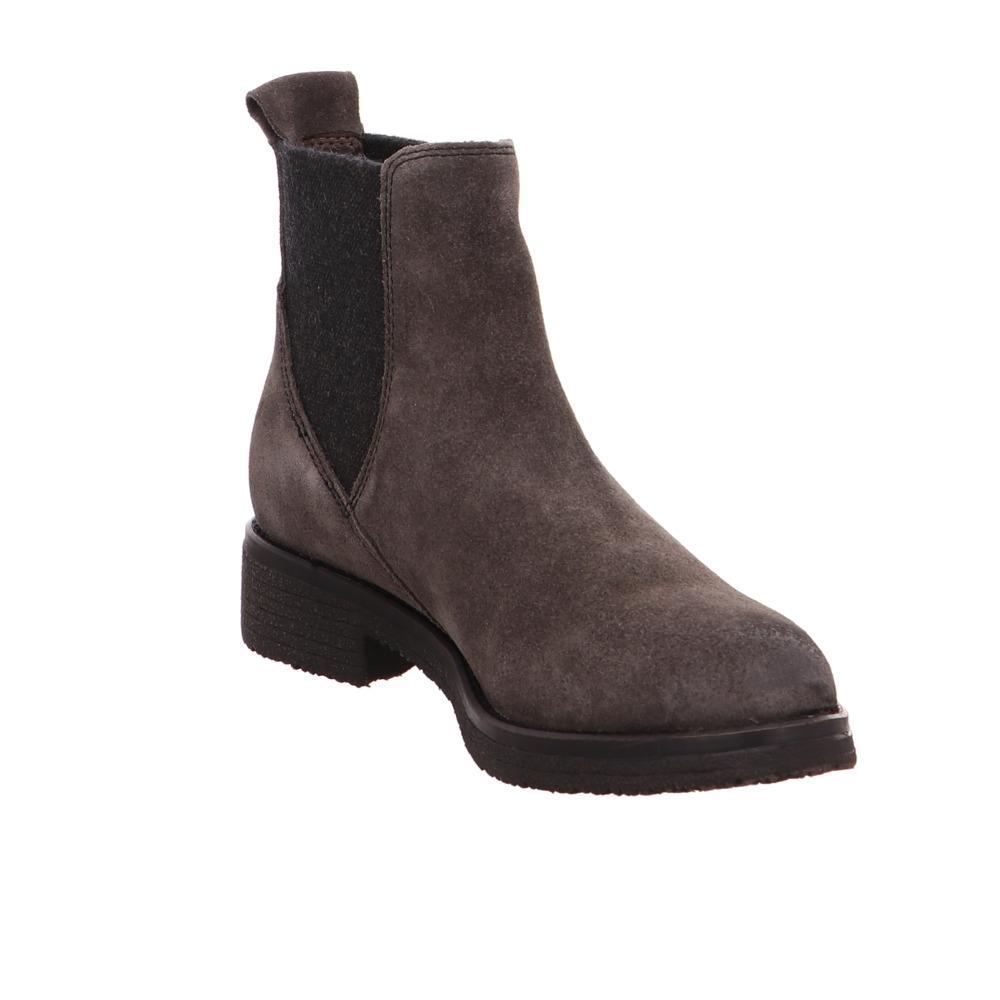 Tamaris-Damen-25446-Grauer-Leder-Chelsea-Boot