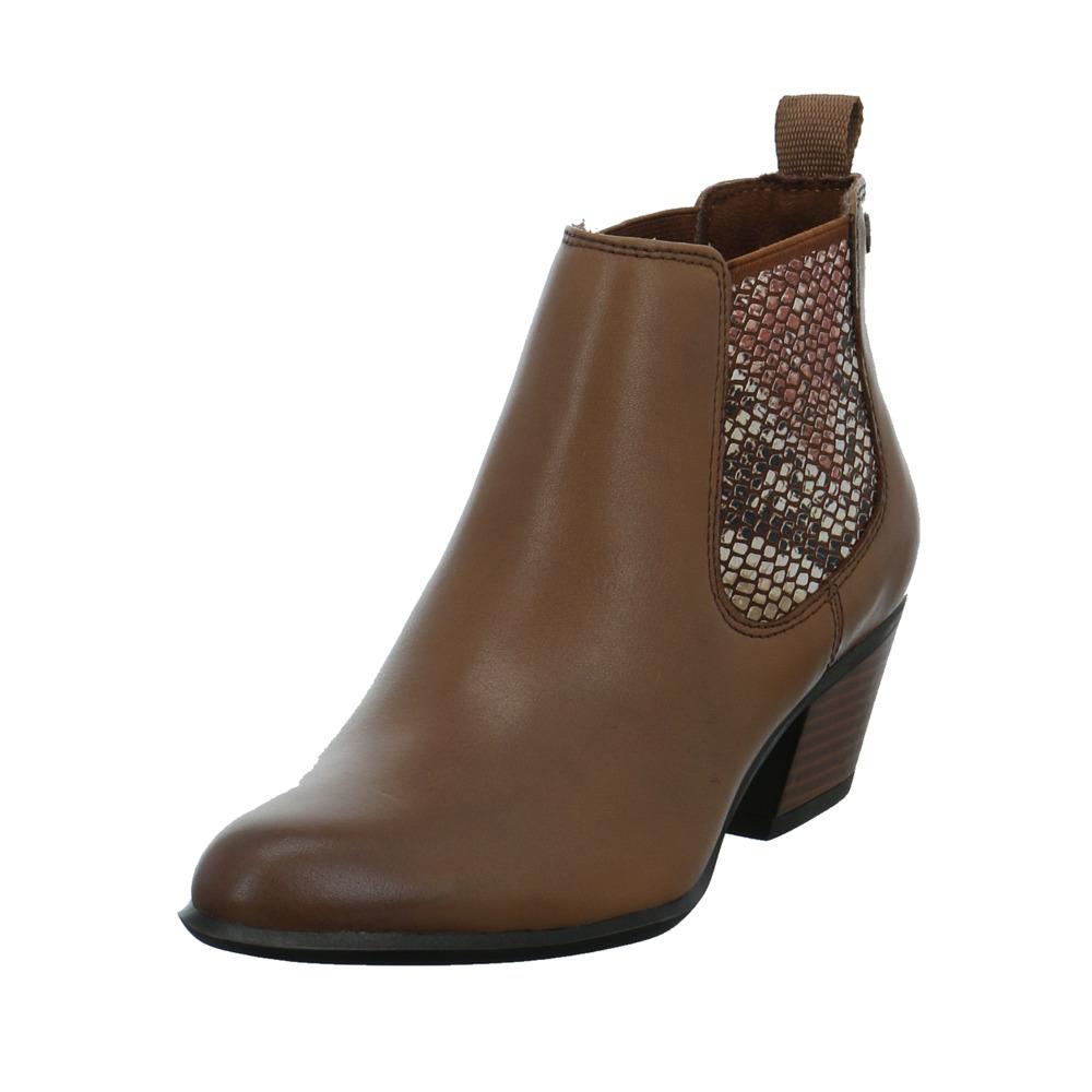 Tamaris Damen 25701 311 Brauner LederTextil Chelsea Boot
