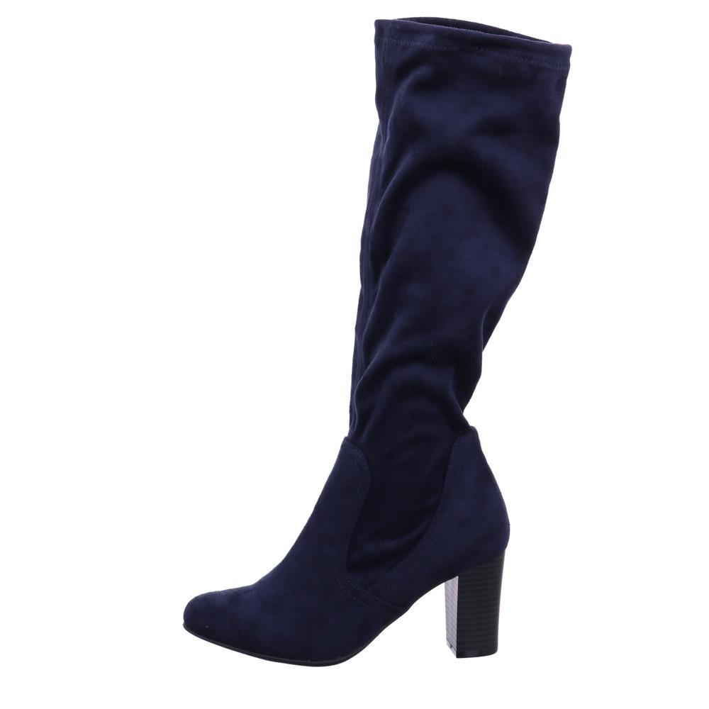 Caprice Damen Damen Damen 25502-870 Schwarze Textil Langschaftstiefel c2e9c2