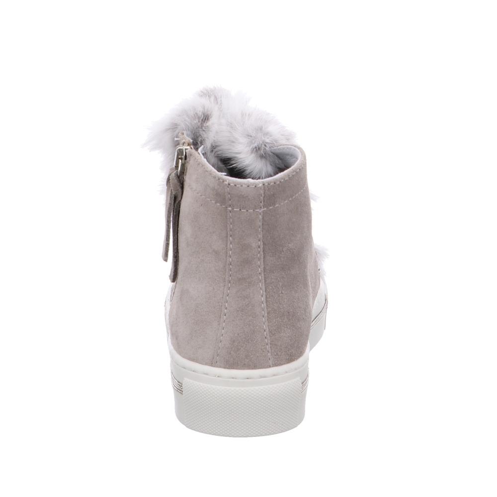 Alpe Illena Damen Damen Damen Stiefel aus Leder Fell in grau