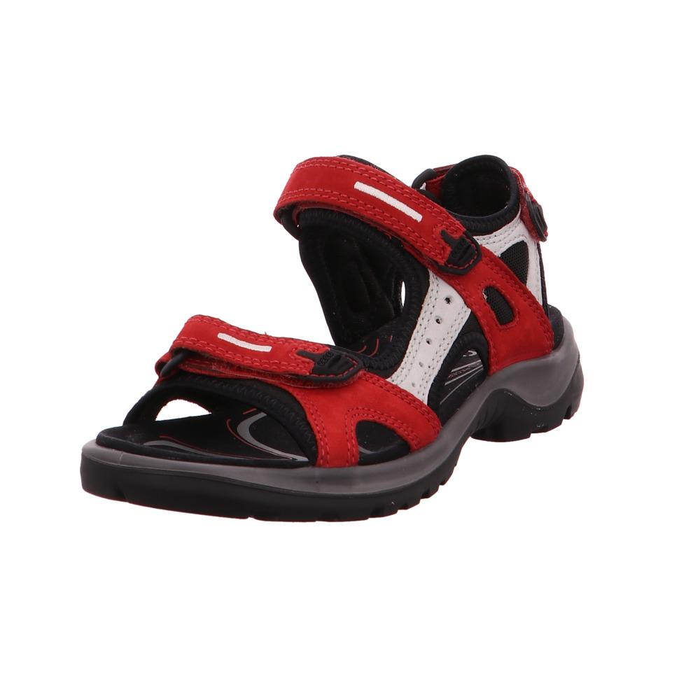 Ecco Damen Offroad 069563 55287 Rote Nubukleder Sandale