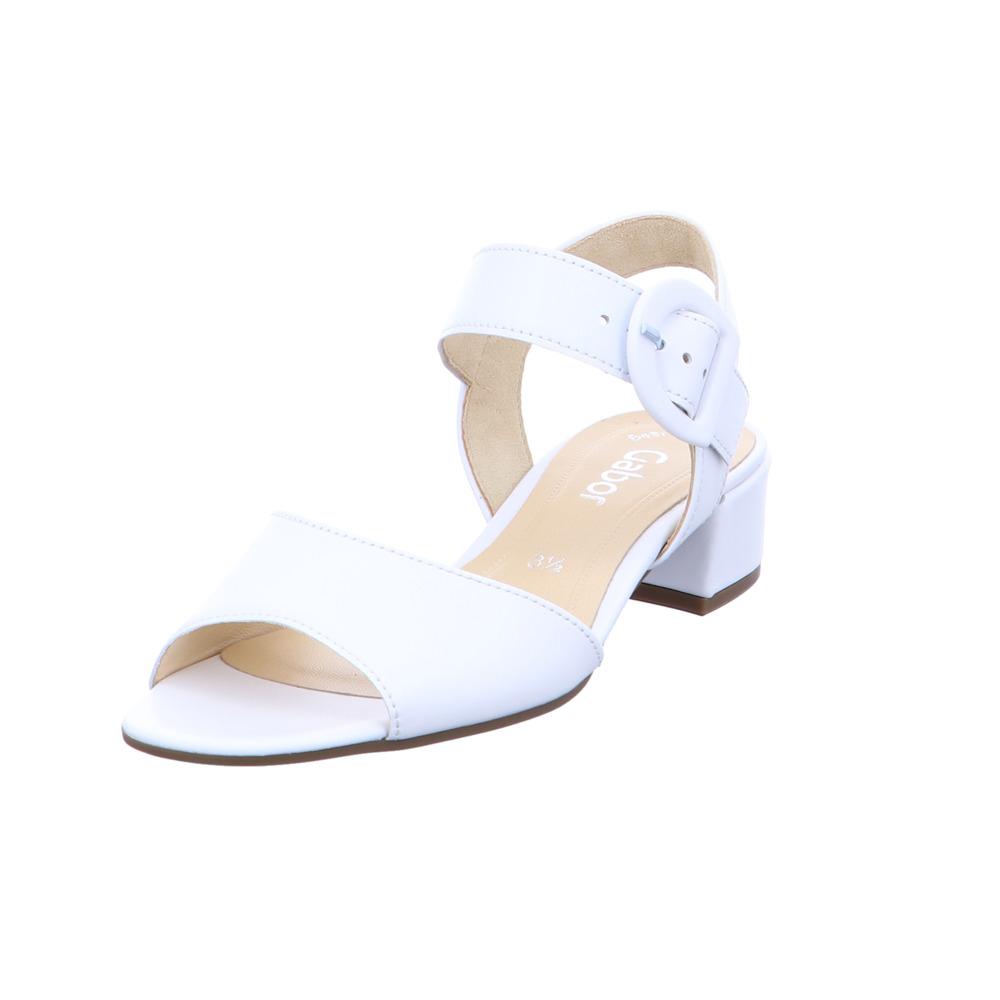 Gabor Damen 81-742-21 Weiße Glattleder Sandalette