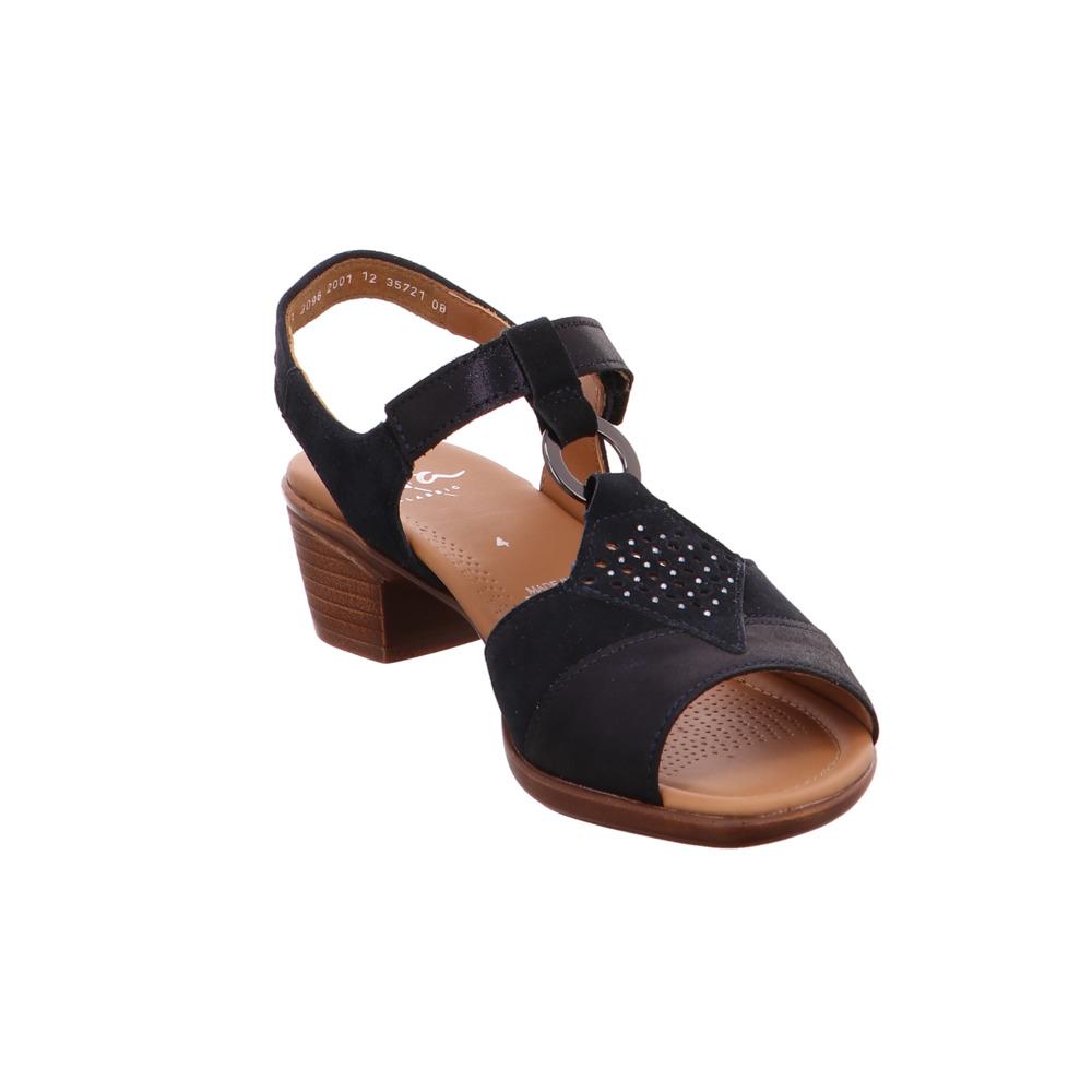 quality hot products wholesale dealer Details zu Ara Damen Lugano Blaue Leder Sandalette
