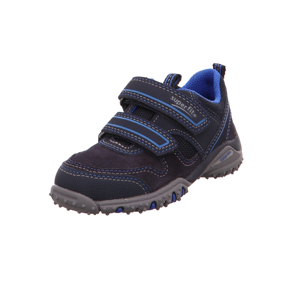 Superfit Kinder Sport 4 4 4 Blaue Leder Textil Halbschuhe 9742c2